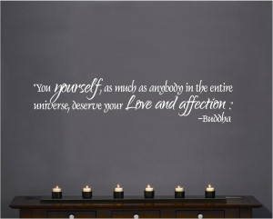 ... Wall-Decal-Art-Saying-Decor-Buddha-you-yourself-deserve-love-affection