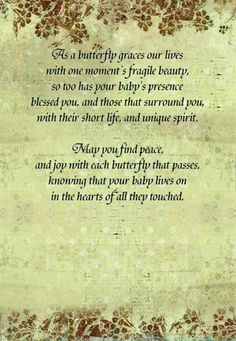 Miscarriage Poems Butterfly...