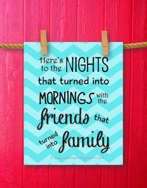 features a turquoise chevron background with the best friends quote ...