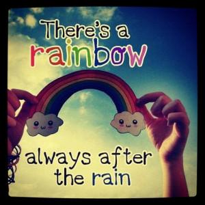 cute, girl, happy, quotes, rainbow, smile, teen