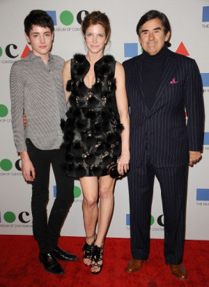 stephanie seymour husband peter m brant and son harry brant attend ...