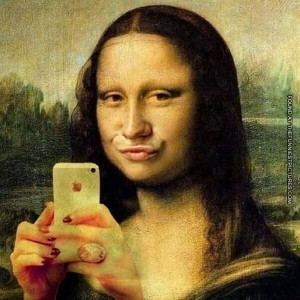 funny picture mona lisa nowadays