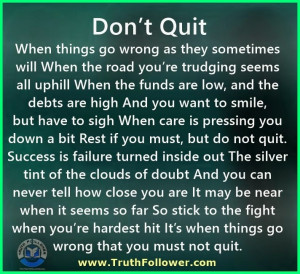 Don't Quit, Quitting Quotes