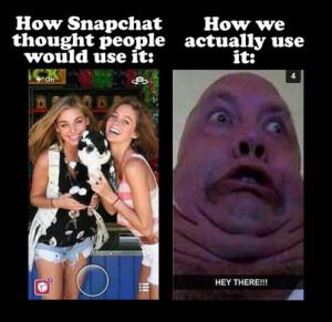 Snapchat – Expectation vs reality