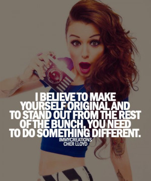 Cher Lloyd Quote- she along with Audrey Hepburn and lily collins is ...