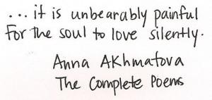 Anna Akhmatova.
