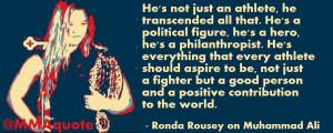 Ronda Rousey on Muhammad Ali