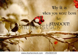 Inspirational quote on individuality by Dr. Suess with a grunge ...