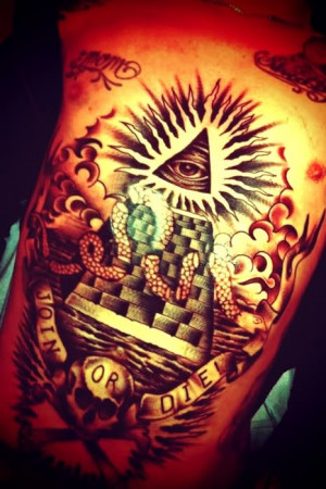 Joel Madden Stomach tattoo..