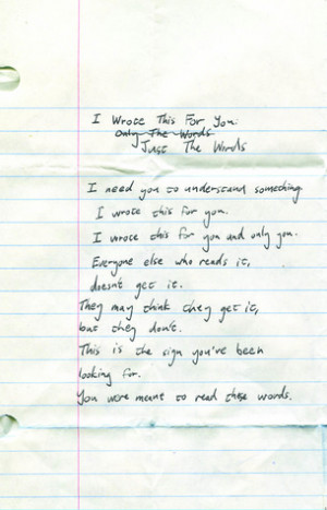 """... by marking """"I Wrote This For You: Just the Words"""" as Want to Read"""