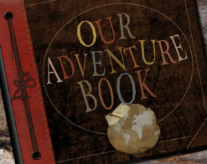 Up Adventure Book Photo Album, Scrapbook, Personalized Guest Book