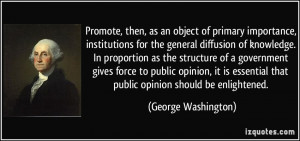 then, as an object of primary importance, institutions for the general ...