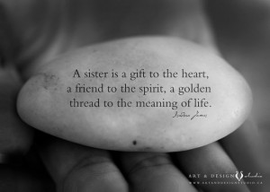 Sister Gift - Best Friend, BFF, Godmother, Aunt, For her, Motivational ...