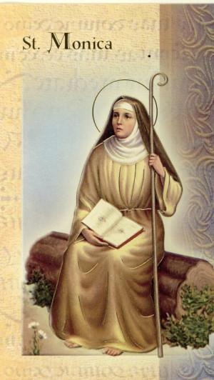 St. Monica Biography Card (500-174) (F5-506)