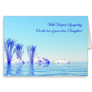 With sympathy on loss of daughter greeting card