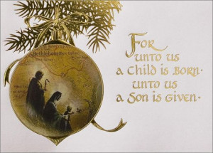 "Celebrating the "" Birth of Jesus Christ, as the season falls upon us ..."