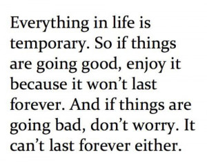 Not all things last forever
