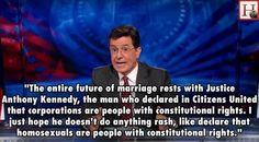 stephen colbert on gay marriage more stephen colbert real people gay ...
