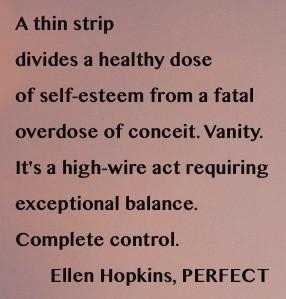 Perfect by Ellen Hopkins.