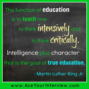 MLK #education #quote #Job #interview