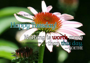 ... more than this day – Beautiful Tuesday Good Morning Picture Quote
