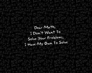 hate u maths~