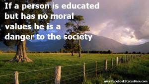 Vicious Circle of Moral Education Sans Effect