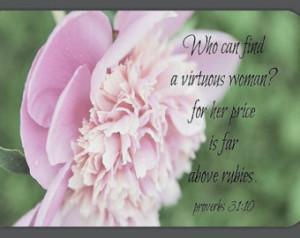Virtuous Woman Magnet Proverbs Natu re Scripture Art Bible Verse Quote ...
