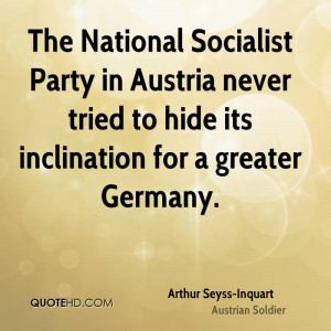 The National Socialist Party in Austria never tried to hide its ...