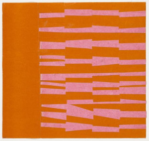 Ellsworth Kelly, Pink and Orange, 1951