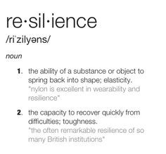 Therapy ideas: Resilience