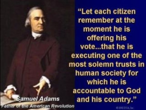Samuel Adams Voting Quote