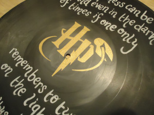 Albus Dumbledore Quote Painted Vinyl Record - Thumbnail 1