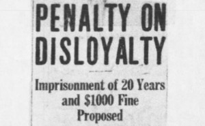 Congress Proposes Stiff Penalties For Disloyalty