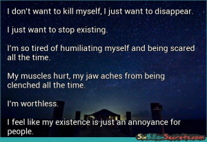 Mental Health I don 39 t want to kill myself I just want to disappear