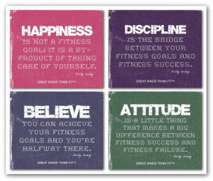 inspirational workout quote collages…