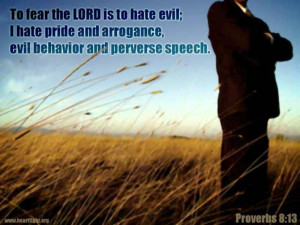 Quote from King Solomon in Proverbs 8:13