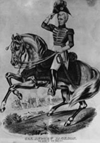 Andrew Jackson, hero of the 1815 Battle of New Orleans, in full ...