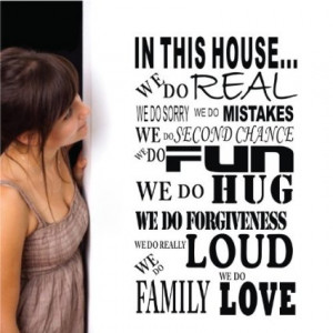 Quotes Wall Art Family Decoration Art Decoration Home Vinyl Removable ...