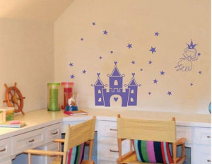 FREE SHIPPING princess castle wall quote decor by happykatehehe, $25 ...