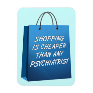 Shopping Therapy Funny Premium Flexi Magnet