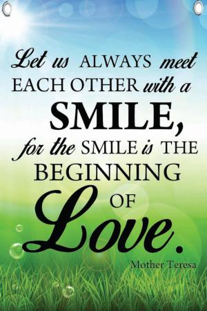 Mother Teresa Quote - 12 x 18