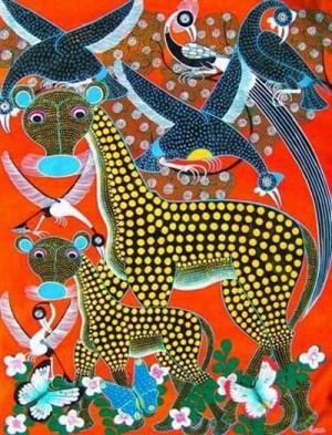 Traditional African Art Oil