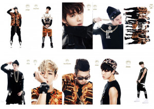 KPOP-White-Style-Bangtan-Boys-BTS-Korean-Fashion-Special-Custom-10PCS ...