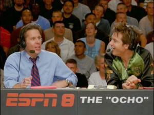 ... color commentator Pepper Brooks) are hilarious together in DODGEBALL