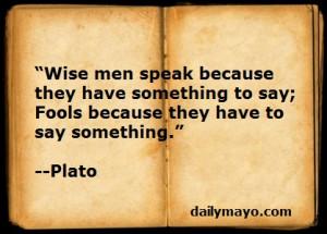 Quote: Plato on Wisdom