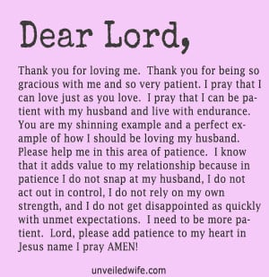 Dear Lord, Thank You for loving me. Thank You for being so gracious ...