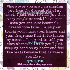 where ever you are i am missing you from the deepest pit of my heart i ...