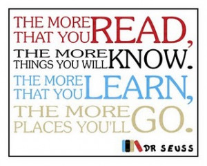 Dr. Seuss Back To School Quote- Free Framable Art