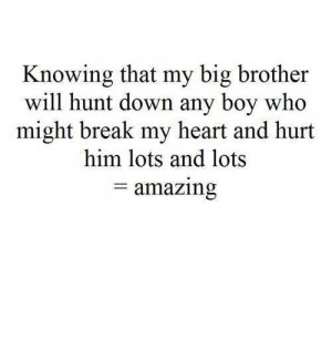 Knowing That My Big Brother Will Hunt Down Any Boy Who Might Break My ...